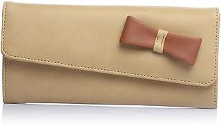 Fostelo Women's Bow Two Fold Wallet (Beige)