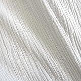 Meterware Stoff Baumwolle Musselin weiß Uni Mulltuch