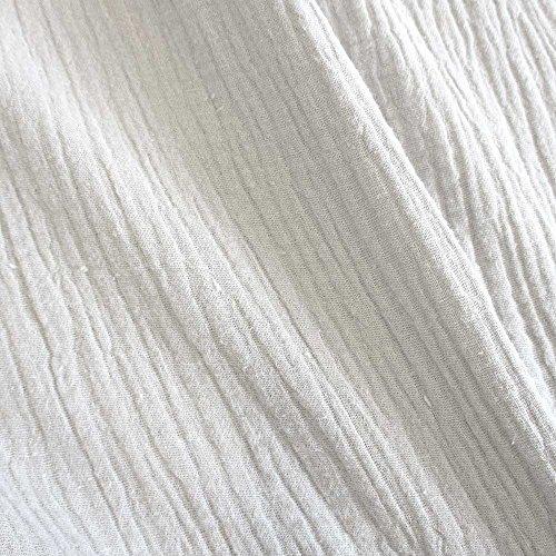 Meterware Stoff Baumwolle Musselin weiß Uni Mulltuch Kleiderstoff Double Gauze