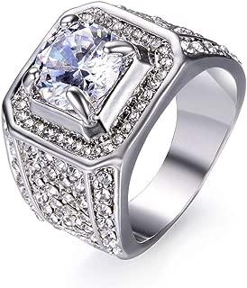 Faithre Antique Alloy Silver Iron Knights Templar Cross Ring Band for Wedding