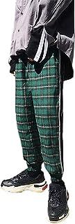 YIMANIE メンズ ジョガーパンツ チェック柄 ズボン テーパード トラックパンツ カジュアル ゆったり サルエルパンツ ストリート 春秋 ヒップホップ