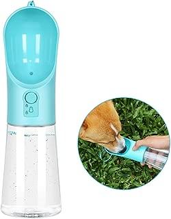 UPSKY Dog Water Bottle Portable Pet Water Bottle with Activated Carbon Filter Leak Proof Dog Water Dispenser, Lightweight Dog Travel Water Bottle Bowl for Walking BPA Free 14 OZ