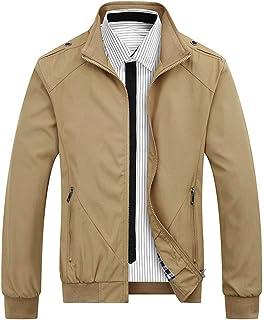 Allthemen Mens Casual Jackets Bomber Jackets Lightweight Slim Fit Zip Coats Classic Outwear