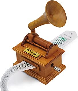 Music Box Wooden Gramophone Make Your Own Song with Wingo Gift