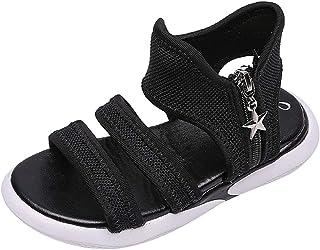 Berimaterry Sandalias con Punta Abierta para Niñas Zapatos Niña,Sandalias de Bowknot para niñas pequeñas Calzado Casual de Princesa Antideslizante para Niños Sandalias de Playa Crystal Chicas