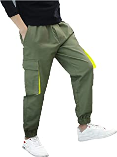 AWQER Pantalones de jogging para niños, pantalones cargo, pantalones de deporte, pantalones de correr, pantalones de ocio,...