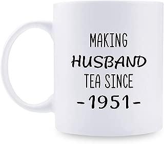 68th Anniversary Gifts - 68th Wedding Anniversary Gifts for Couple, 68 Year Anniversary Gifts 11oz Funny Coffee Mug for Husband, Hubby, Him, making husband tea