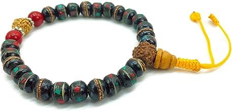 Healing Lama Hand Crafted Yak Bone Yoga Meditation Wrist Bracelet Mala. Mantra Chanting Tibetan Monk Beads Bracelet