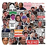 The Office Stickers Merchandis[50pcs] Funny Quote Pack with Michael Mike Dwight Jim Dunder Mifflin for Hydro Flasks Water Bottles Laptop Notebook Computers Guitar Bike Helmet Car, Gifts for Friends
