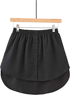 YYXJ Mini Skirt Shirt Extenders Adjustable Layering Fake Top Sweep Set Skirt Cotton Detachable Underskirt Versatile Hem fo...