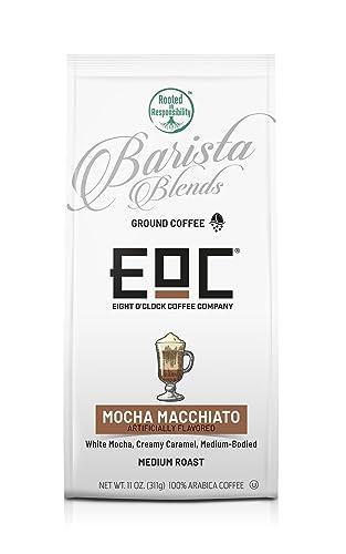 Eight O'Clock Coffee Barista Blends Ground Coffee Mocha Macchiato 11 Ounce