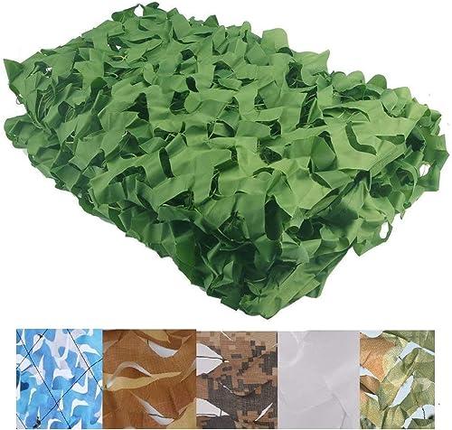 Filet de camouflage oxford Filet d'ombrage Camouflage Auvents Sunscreen Sun Isolation de maille Filet Auvent Tente Tissu, Convient pour la chasse aux peaux militaire, couleur verte, plusieurs tailles