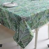 Dreaming Casa - Mantel rectangular, algodón resistente, antimanchas, lona estampada,...