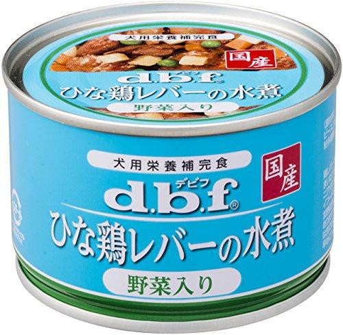 デビフ ドッグフード(缶) ひな鶏レバーの水煮野菜入り 150g