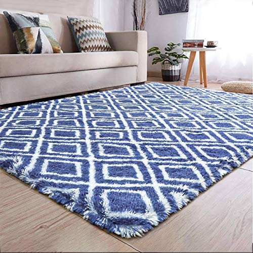 YJ.GWL Soft Indoor Large Modern Area Rugs Shaggy Patterned Fluffy Carpets Suitable for Living Room and Bedroom Nursery Rugs Home Decor Rugs for Christmas and Thanksgiving 5