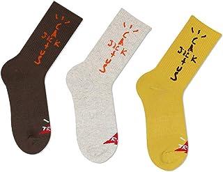 TTD, 3 paquetes de calcetines Street Fashion de algodón tubular Travis Scott para hombre y mujer