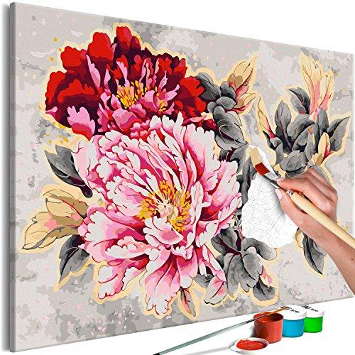 murando - Malen nach Zahlen XXL Blumen 120x80 cm Malset mit Holzrahmen auf Leinwand für Erwachsene Kinder Gemälde Handgemalt Kit DIY Geschenk Dekoration n-A-0575-d-a