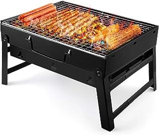 comprar comparacion UTTORA Barbacoa de Carbón Portátil BBQ, con Parillas y Pies Plegables, Matriales Saludables y Seguros, Fácil de Usar y Lim...