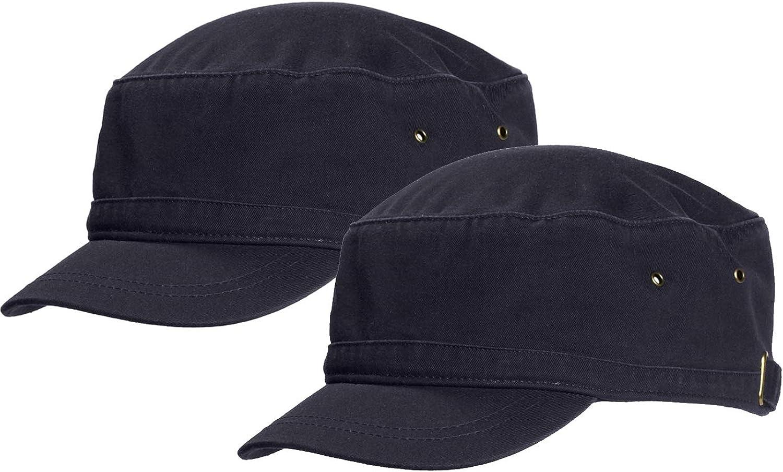 Marky G Apparel Short Bill Cadet Cap (2 Pack)