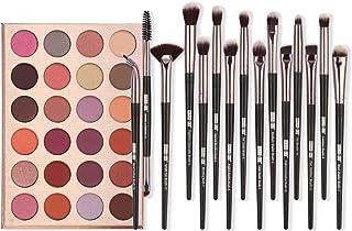 Cutelove 24色アイシャドウパレットと12色アイメイクブラシ アイメイク製品 化粧品 アイシャドウ ブラシ付き