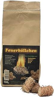 grillanzünder RaiffeisenWaren 104092 Kaminanzünder, Feueranzünder, Feuerbällchen Anzünder ökologisch, aus Naturprodukten - Wachs, Naturholz Brenndauer ca. 10 min 0,5 kg 1 Stück