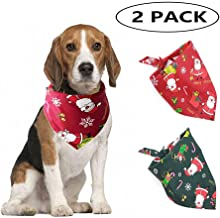 2pcs Dog Bandana Triangle Bibs for Dogs Kerchief Christmas Santa Pattern Costume Scarf Dog Cat Bibs Pets Supplies