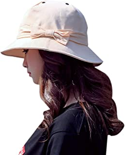 ACVIP Women's Bowknot UV Block Casual Golf Bucket Hat