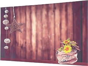 TOYANDONA Vinyl Brown Wood Backdrop Photographers Flower Backdrop Retro Wood Wall Background Cloth Rustic Photo Backdrop 3...