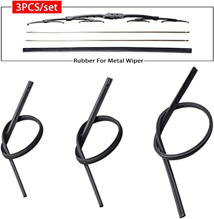 OTUAYAUTO Front Wiper Blade Refills 9mm cut to size For Honda CR-V CRV 2007-2011