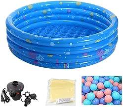 HEROTIGH Piscinas Hinchables Plegable Antideslizante Engrosamiento Inflable Piscina De Bolas Marinas Piscina De Arena Niños Bebé De Cuatro Anillos Viaje Familiar 150 Cm Azul Inflatable Pool
