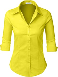 f78a1ddb Amazon.com: Yellows - Blouses & Button-Down Shirts / Tops, Tees ...