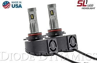 9012RAM SL1 Cool White LED Headlight Bulbs w/Anti-Flicker Modules (pair)