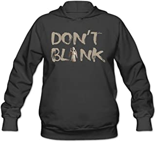 CYANY Doctor Who British Science-fiction TV WEEPING ANGEL DON'T BLINK Women's Cute Hoodies Sweater Black