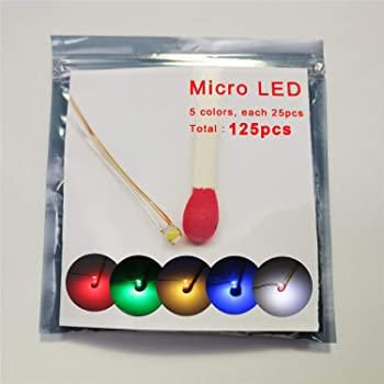125pcs Pre-soldered Micro Litz Wired Leads Mix SMD Led 0603 + Muti-Resistor New