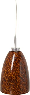 Jesco Lighting KIT-QAP220-MO-A Goblet 1-Light Low Voltage Pendant and Canopy Kit, Mocha