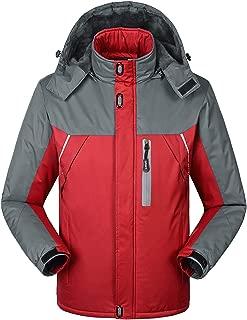 AIEOE Youth Waterproof Windproof Ski Jacket Fleece Inner Snow Jacket Softshell Hooded Raincoat for Outdoor Hiking Mountaineering