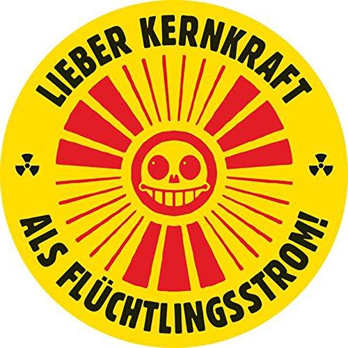 Aufkleber / Sticker - Lieber Kernkraft als Flüchtlingsstrom (Sticker-Set, 10 Stück)