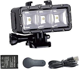 Suptig LED onderwaterlicht, onderwaterlicht, waterdicht, compatibel met GoPro-serie, AKASO, Campark, Dragon Action Camera,...