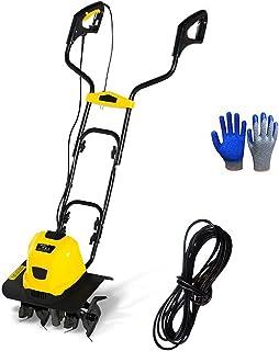 QILIN Electric Garden Tiller/Cultivator, 1500W Electric Tiller with 4 Rotating Blades, 2400W Electric Tiller with 6 Rotati...