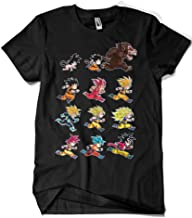 Camisetas La Colmena-4003-Dragon Ball-Evolutions of Goku(albertocubatas)