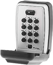 Master Lock 5423D Set Your Own Combination Wall Mount Press Button Lock Box, 5 teclas de capacidade, preto