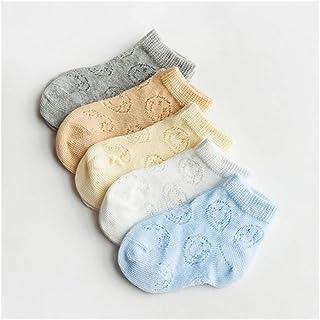 LiuQ, LiuQ Bebé Calcetines 5 Pares/Lot 0-6Y Infantil del bebé Calcetines for Chicos, Chicas de algodón del Acoplamiento del Verano del niño recién Nacido Lindo Calcetines de bebé Ropa Accesorios