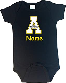 Future Tailgater Appalachian State Personalized Color Baby Onesie