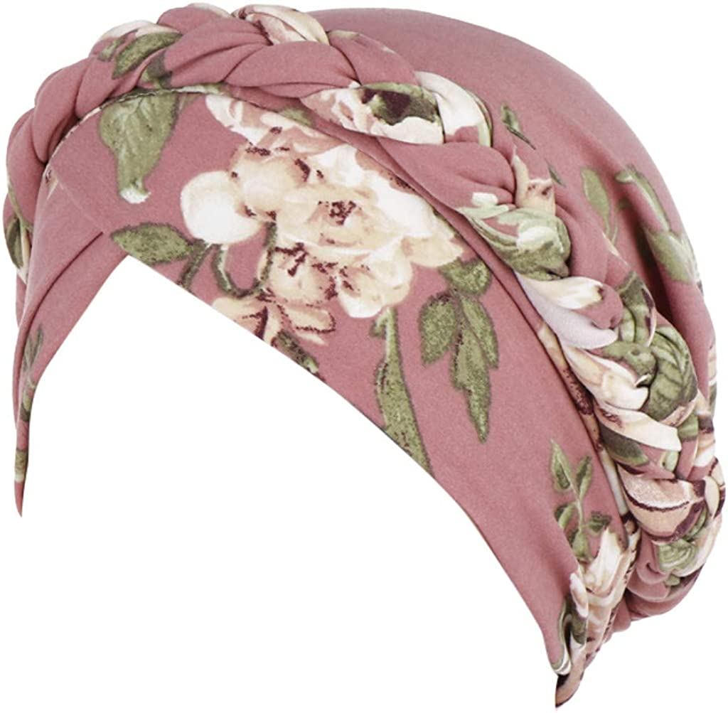 YYCHUN Womens Beanies Twist Headwrap Summer Muslim Islam Turban Cap Prints Home Sleeping Caps Hair Loss Chemo Cap