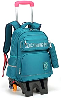 KTYXDE Travel Bag Backpack Shoulder Bag High Capacity Men and Women School Bag Computer Bag Travel Business Boarding Large Capacity Trolley Bag Trolley Backpack (Color : Green, Size : 42x14x31cm)