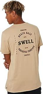 Swell Men's Transmit Tee Short Sleeve Cotton Brown