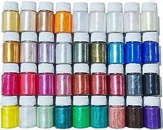 Epoxyharskleurstof, 36 kleuren, parelglans-mineraalpigmenten in cosmetica-kwaliteit, zeepkleurstof voor het maken van zee...