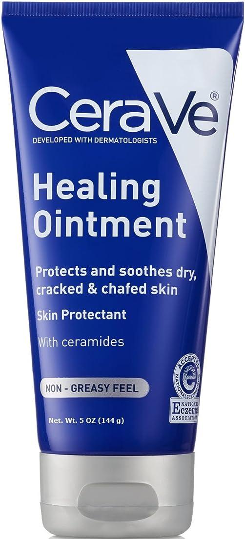 フリースこの薄汚いセラビィ ヒーリングオイントメント 5オンス CeraVe Healing Ointment for Dry and Chafed Skin, Non-Greasy Feel - 5oz