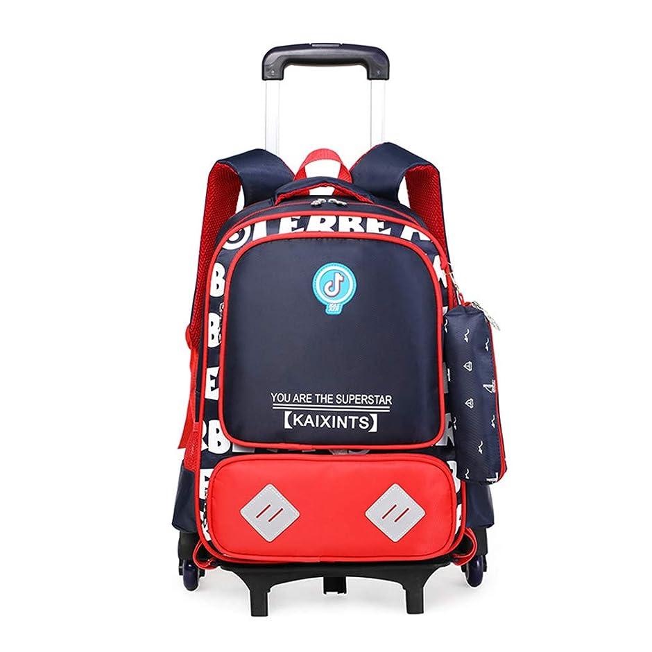 欺くハリケーン爆風スクールバッグトロリーキャスター付きバックパック、トロリースクールバックパックブックバッグの男の子のためのキャスター付きバックパック、防水ローリングスクールバッグバックパック