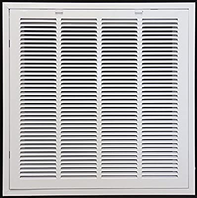 """24"""" x 24"""" RETURN FILTER GRILLE for Drop Ceiling - Uses 20"""" x 20"""" Filter - Easy Access Door & Latch To Filter"""